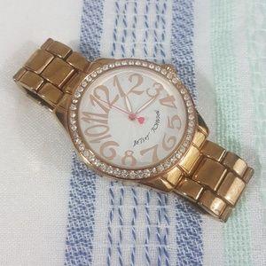 Betsey Johnson Goldtone Rhinestone Watch